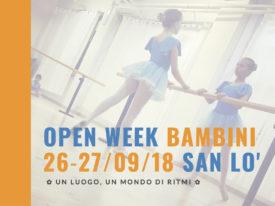 Open Week Bambini 2018