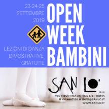 Open Week Bambini 2019