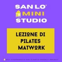 Mini-Studio • Lezione di Pilates